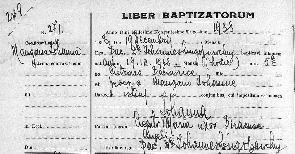 giovanna mangani christening