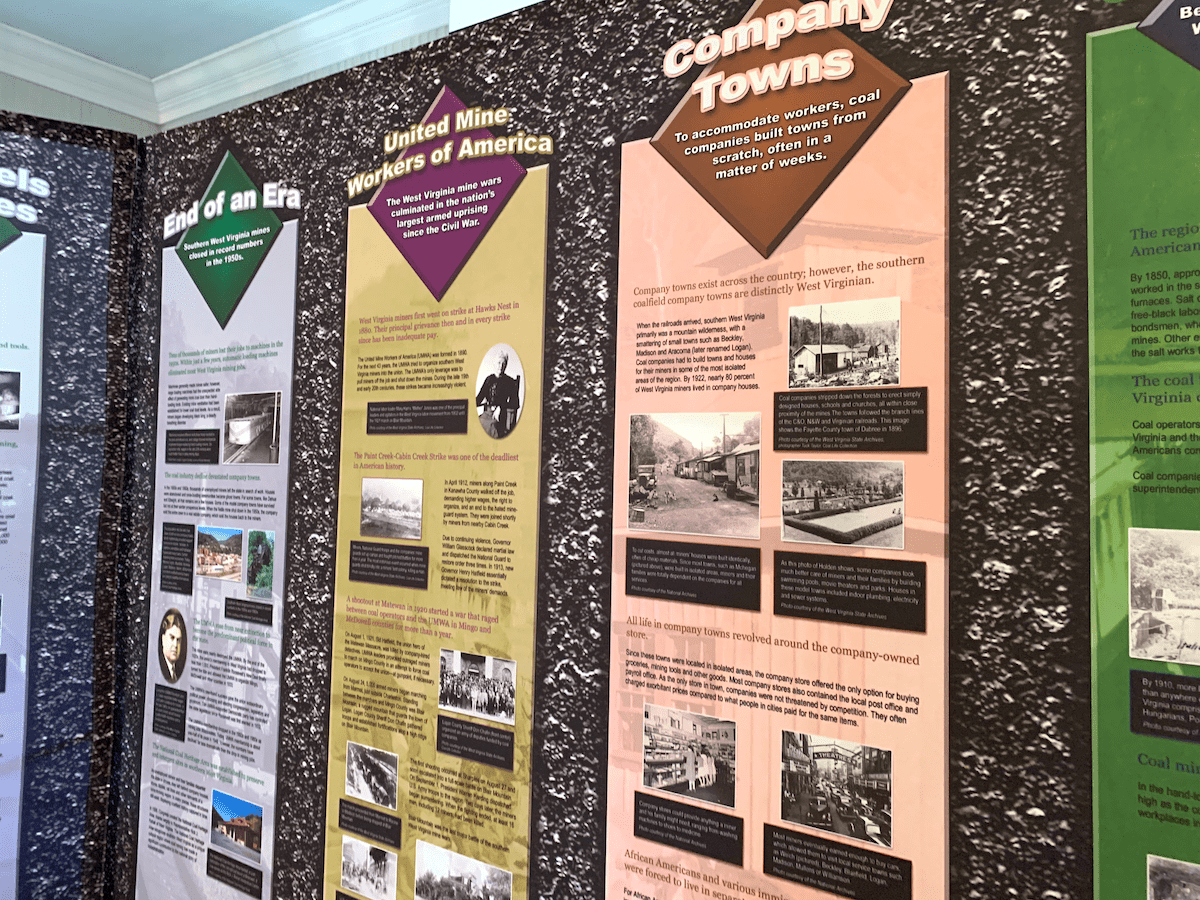 Exhibit in Bramwell Coal Heritage Train Interpretive Center