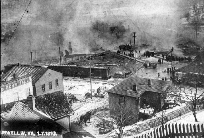 Photo of Bramwell WV 1910 Fire